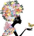 flower head silhouette